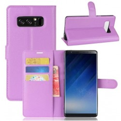Protection Etui Portefeuille Cuir Violet Samsung Galaxy Note 8