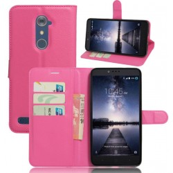 Protection Etui Portefeuille Cuir Rose ZTE Zmax Pro