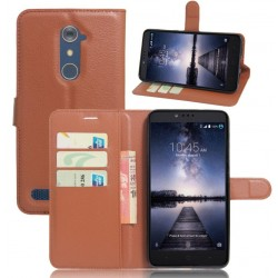 ZTE Zmax Pro Brown Wallet Case
