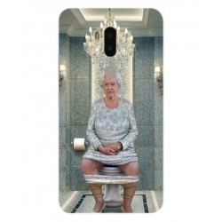 Alcatel A7 XL Her Majesty Queen Elizabeth On The Toilet Cover