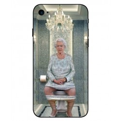 iPhone 8 Her Majesty Queen Elizabeth On The Toilet Cover