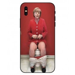 Funda Angela Merkel En El Baño Para iPhone X