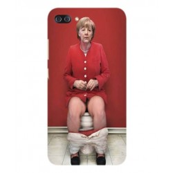 Asus Zenfone 4 Max Plus ZC554KL Angela Merkel On The Toilet Cover