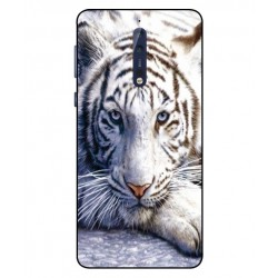 Nokia 8 White Tiger Cover