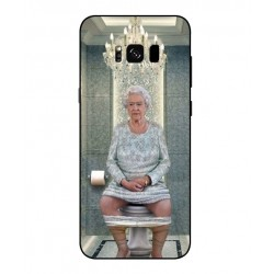 Samsung Galaxy S8 Her Majesty Queen Elizabeth On The Toilet Cover