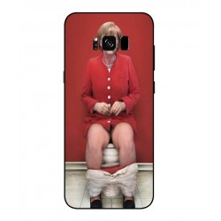 Samsung Galaxy S8 Plus Angela Merkel On The Toilet Cover