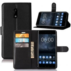 Nokia 6 Black Wallet Case