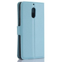 Nokia 6 Blue Wallet Case
