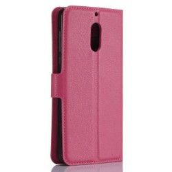Protection Etui Portefeuille Cuir Rose Nokia 6