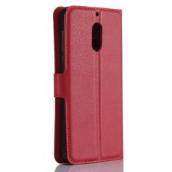Nokia 6 Red Wallet Case