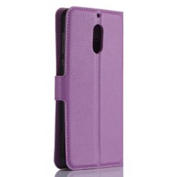 Nokia 6 Purple Wallet Case