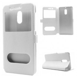 White S-view Flip Case For Nokia 6