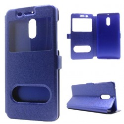 Etui Protection S-View Cover Bleu Pour Nokia 6