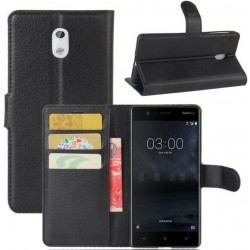 Nokia 3 Black Wallet Case