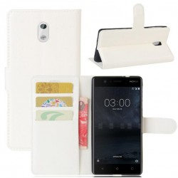 Nokia 3 White Wallet Case