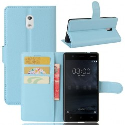 Nokia 3 Blue Wallet Case