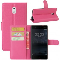 Nokia 3 Pink Wallet Case