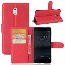 Nokia 3 Red Wallet Case
