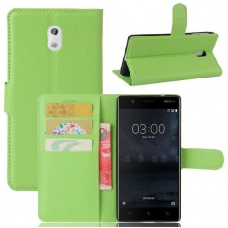 Nokia 3 Green Wallet Case