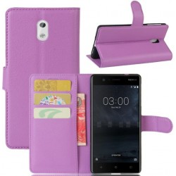 Nokia 3 Purple Wallet Case