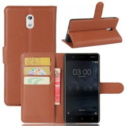 Nokia 3 Brown Wallet Case