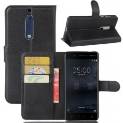 Nokia 5 Black Wallet Case