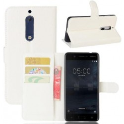 Nokia 5 White Wallet Case