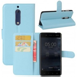 Nokia 5 Blue Wallet Case