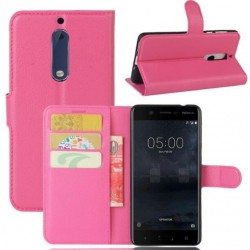 Nokia 5 Pink Wallet Case