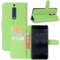 Nokia 5 Green Wallet Case