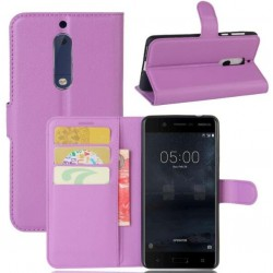 Nokia 5 Purple Wallet Case