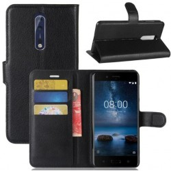 Nokia 8 Black Wallet Case