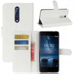 Nokia 8 White Wallet Case