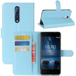Nokia 8 Blue Wallet Case