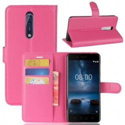 Nokia 8 Pink Wallet Case