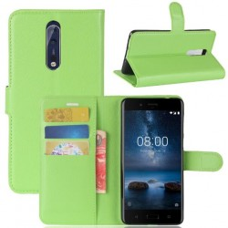 Nokia 8 Green Wallet Case