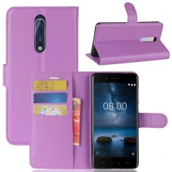 Nokia 8 Purple Wallet Case