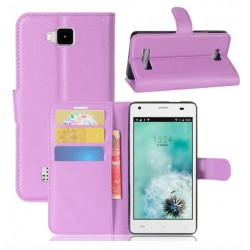 Cubot Echo Purple Wallet Case