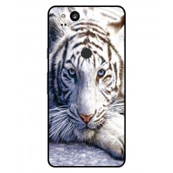 Google Pixel 2 White Tiger Cover