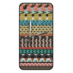 Wiko Lenny 4 Mexican Embroidery With Clock Cover