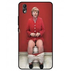 Wiko Lenny 4 Plus Angela Merkel On The Toilet Cover