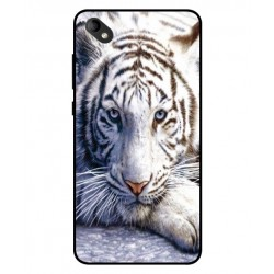 Coque Protection Tigre Blanc Pour Wiko Sunny 2 Plus