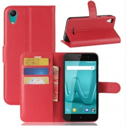 Wiko Lenny 4 Red Wallet Case