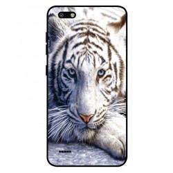 Coque Protection Tigre Blanc Pour ZTE Blade Force
