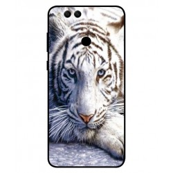 Coque Protection Tigre Blanc Pour Huawei Honor 7X