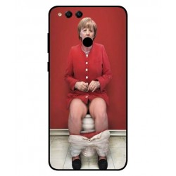 Huawei Honor 7X Angela Merkel On The Toilet Cover