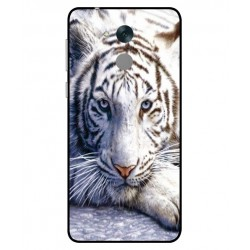 Coque Protection Tigre Blanc Pour Huawei Honor 6C Pro