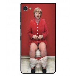 Funda Angela Merkel En El Baño Para Blackberry Motion