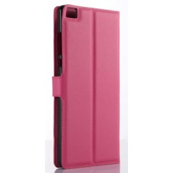 Protection Etui Portefeuille Cuir Rose Huawei P8 Max