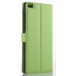 Protection Etui Portefeuille Cuir Vert Huawei P8 Max
